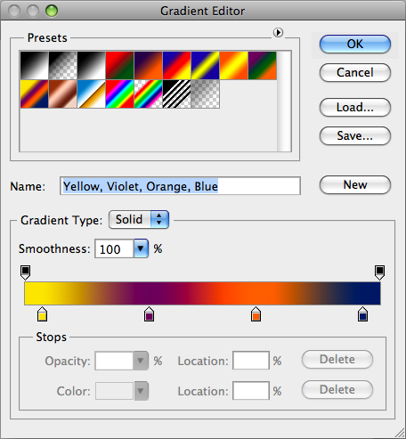 Create a Psychedelic image in Photoshop: Gradient