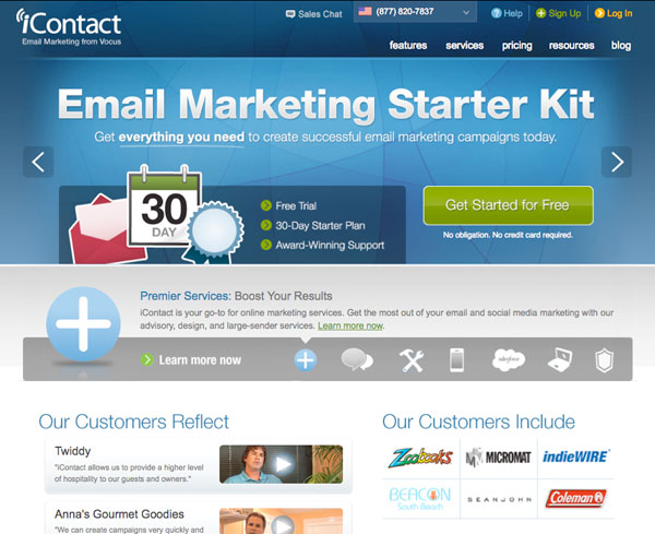 icontact Email Marketing services provider