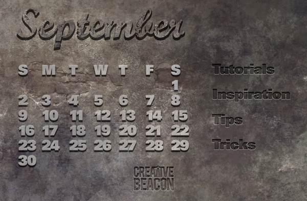 Free calendar and photoshop template