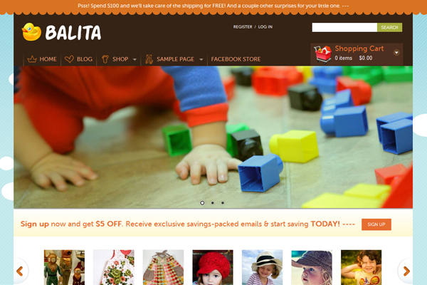 Balita- Best Free WordPress eCommerce Themes