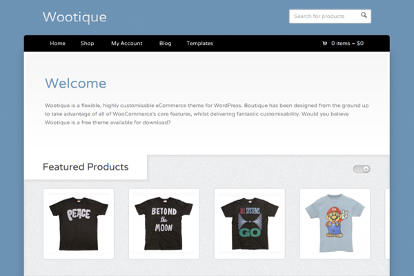 Wootique-Best Free WordPress eCommerce Themes
