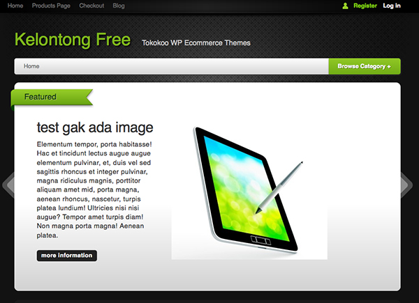 kelontong-Best Free WordPress eCommerce Themes