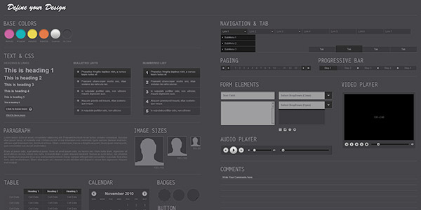 Midnight Free Photoshop UI Kit