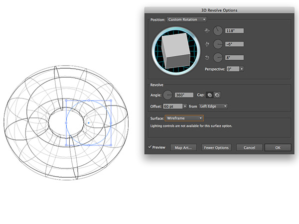 Wireframes 3D in Illustrator
