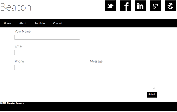 Free Responsive Website Template-Contact