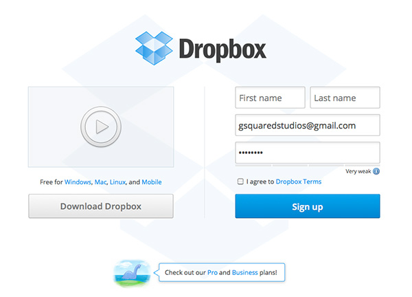 Free Online Storage Solutions - dropbox