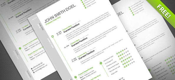 CV_Resume_Free_PSD_Template_Preview_Small - best Free Photoshop Templates