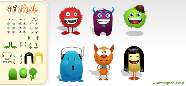 PSD_Monster_Creation_Kit_Preview_Small1 - best Free Photoshop Templates
