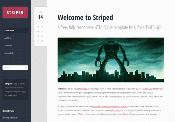 striped-html5-free-website-template