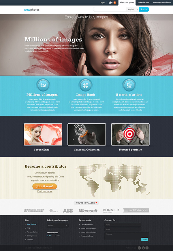 template-for-photo-selling - best Free Photoshop Templates