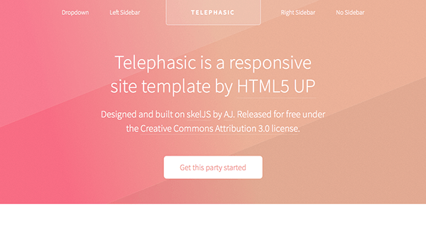Telephasic Free Html5 Template 1