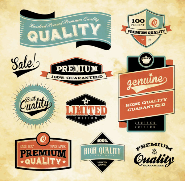 retro vector labels