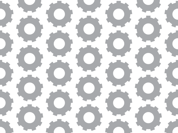 Grey Gears vector pattern swatches