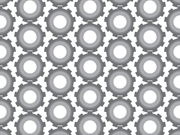 Grey Gears shading vector pattern swatches