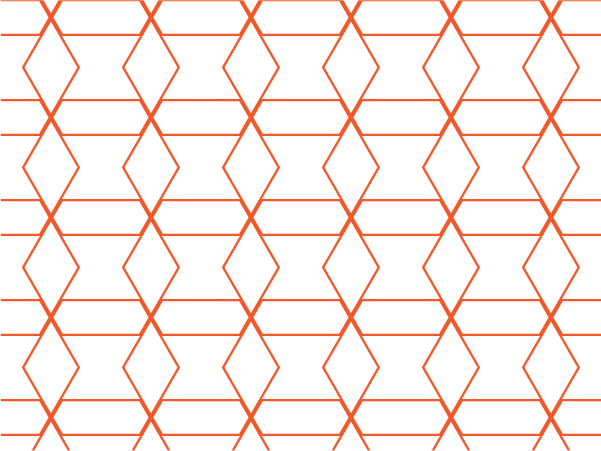 Orange Geometry vector pattern swatches