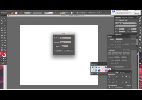 Extra tool options in Adobe Illustrator