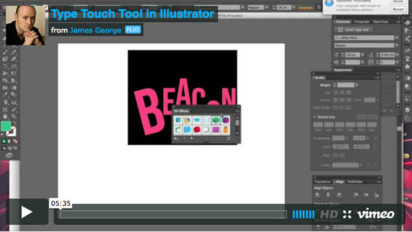 type touch tool in illustrator cc
