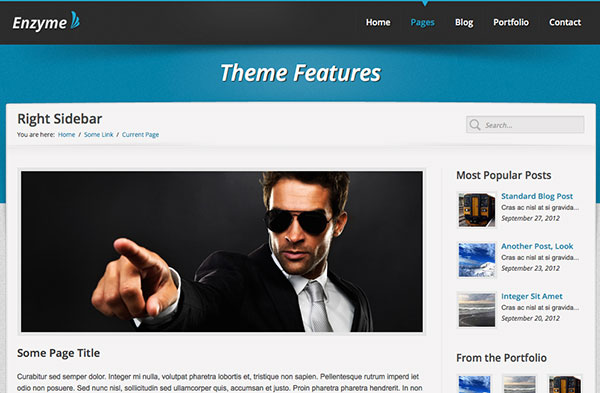 Enzyme Free Html5 Template blog