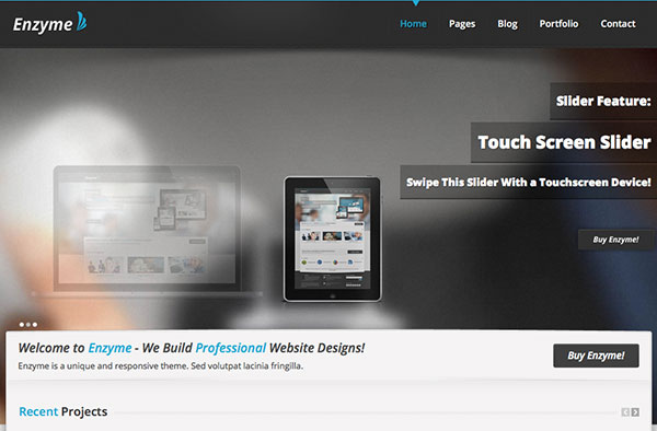 Enzyme Free Html5 Template home top