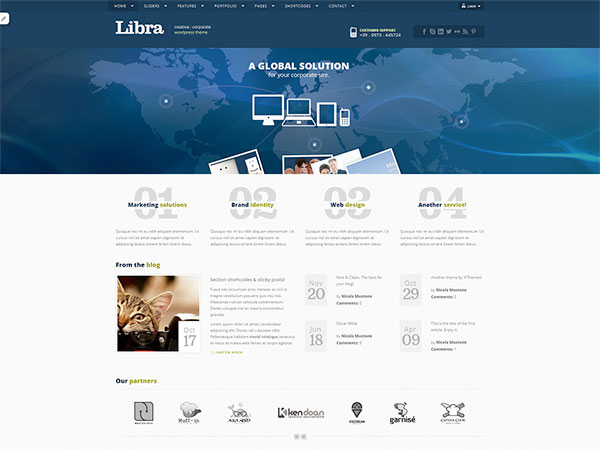 Libra Free WordPress Theme