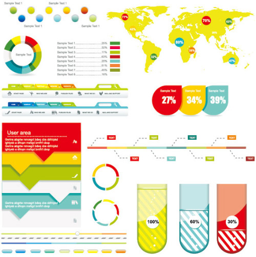 5 Free Vector Infographic Elements Sets