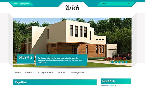 brick Free WordPress Theme