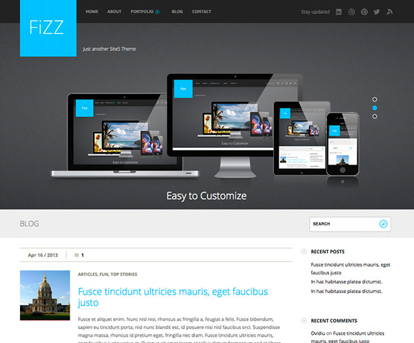 fizz Free WordPress Theme