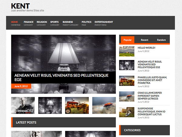 kent Free WordPress Theme
