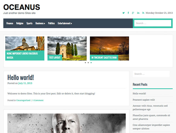 oceanus Free WordPress Theme