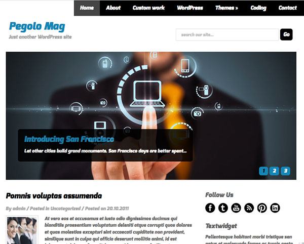 pegolo-mag Free WordPress Themes