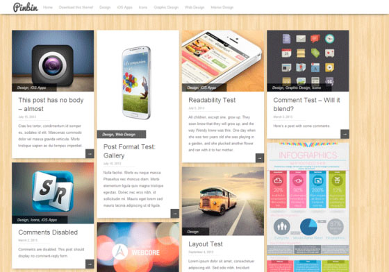 pinbin Free WordPress Themes