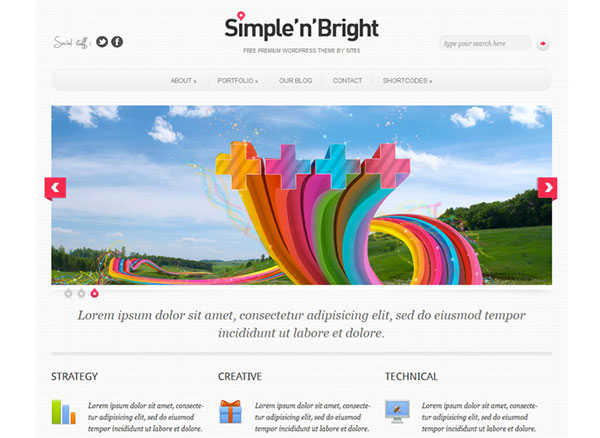 simple-n-bright Free WordPress Theme