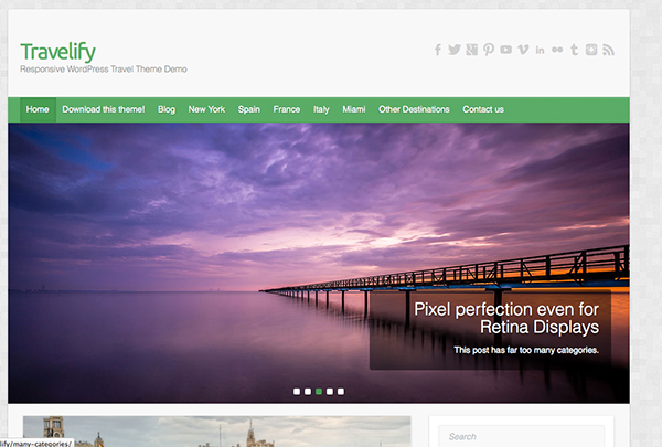 travelify Free WordPress Themes