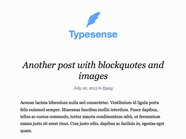 typesense Free WordPress Theme