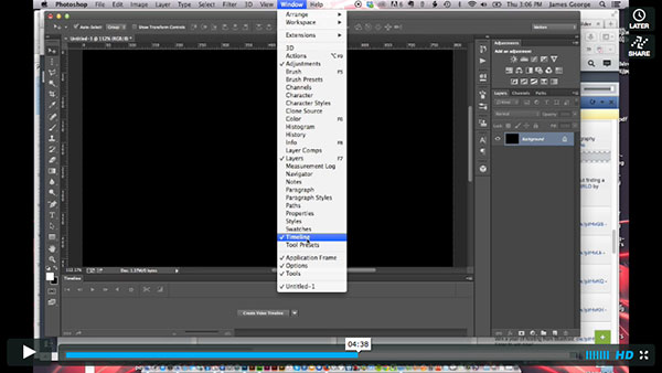 Workspaces in Photoshop CC