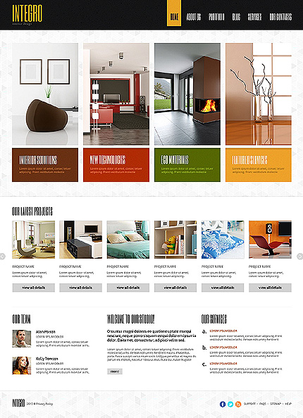 20 flat 20 best the pre built templates designed for Interior decorating websites