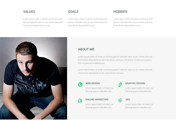 Attractive Html Resume Template Resume Website In Personal Resume Websites