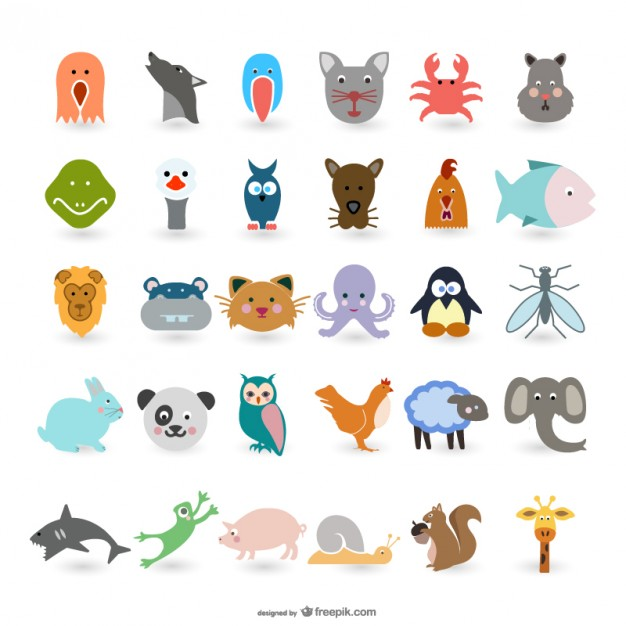 free simple animal vectors