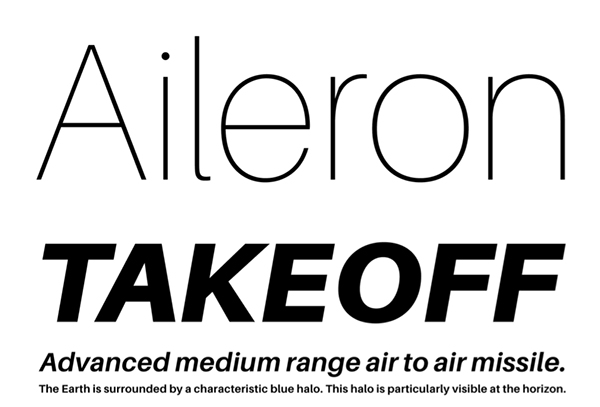 aileron: awesome free fonts
