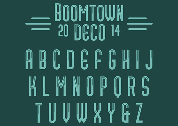 awesome free fonts: boomtown_deco