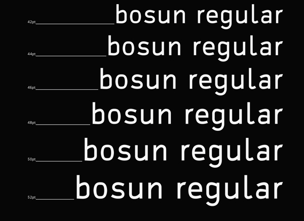 awesome free fonts: bosun