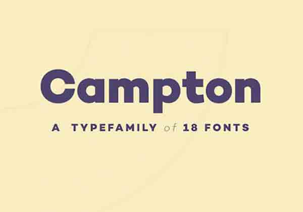awesome free fonts: campton