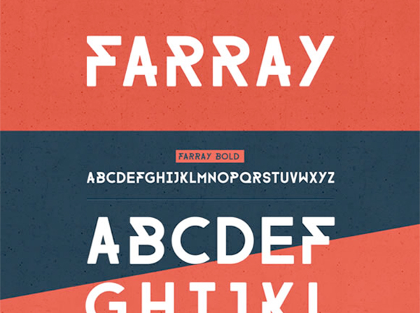 awesome free fonts: farray