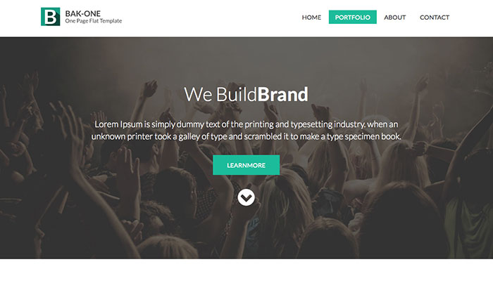 Bak One Website Template