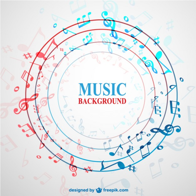 Music Vectors: Abstract circle