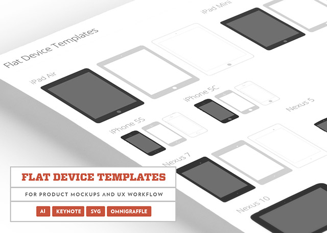 Flat Devices Template Psd