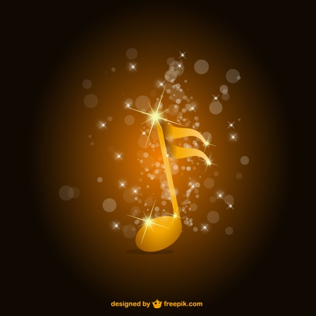 Music Vectors: glossy note