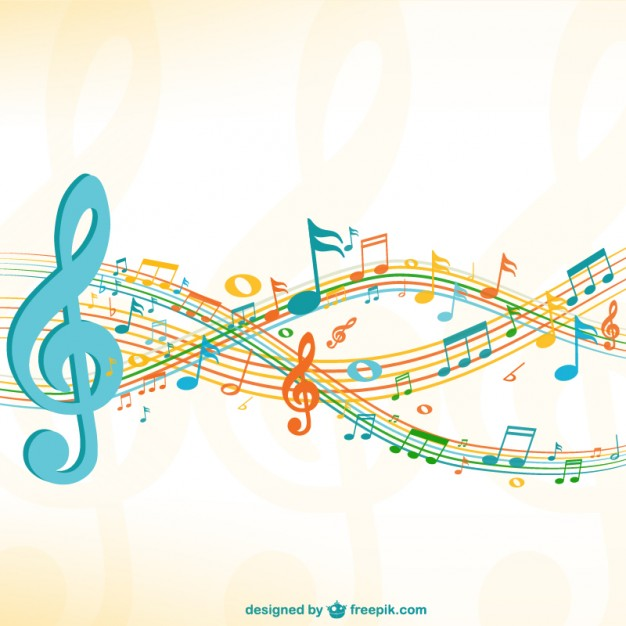 Music Vectors: Flowing vectors