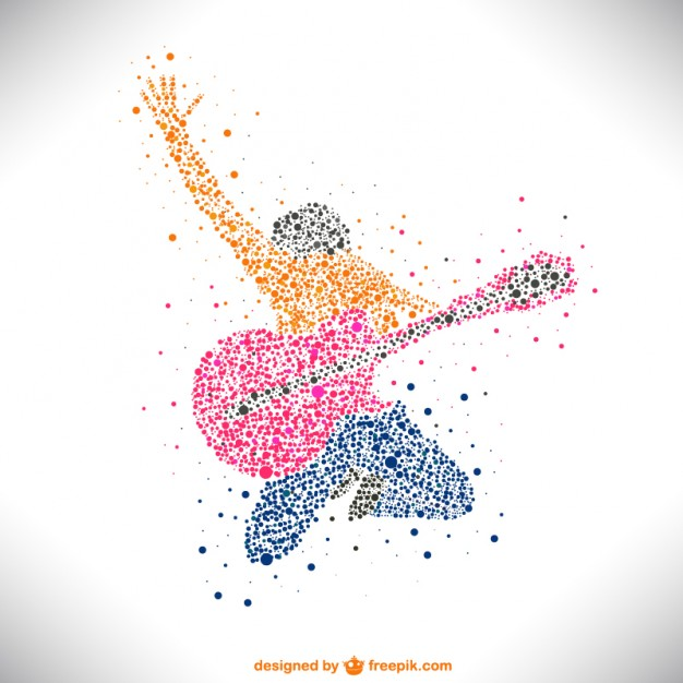 Music Vectors: guitarist