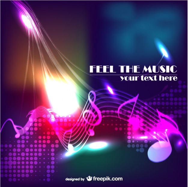 Music Vectors: colorful music